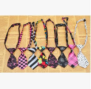 50pcs/lot  Pet Dog Neckties Bow  tie Mixed 30 New Patterns Polyester Cute Dog Bow Tie Dog Grooming Products 2