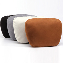 Car Headrest Super Soft Suede Neck Support Pillow Seat Cushion Universal Fit for Mercedes-Benz BMW Audi Ford Toyota Honda