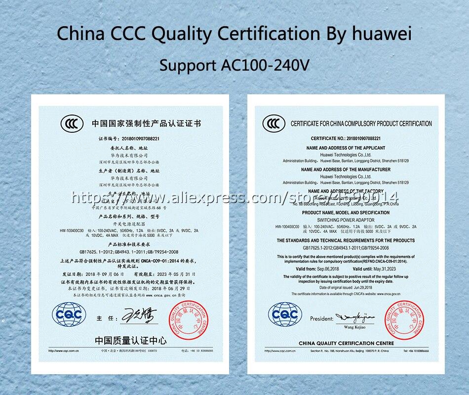 CP84 Original HUAWEI Super Charge 40W Quick Charger 10V/4A 9V/2A 5V/2A  Apply to Mate20 Pro X RS Mate10 P20 P10 Mate10 Magic 2