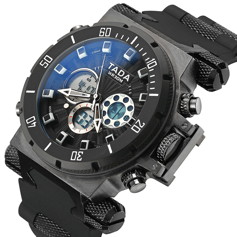 Fashion Luxury Brand Men Sport Watches Mens Military Watch Quartz Rubber LED Analog Clock Man Waterproof Watch reloj hombre 2019Fashion Luxury Brand Men Sport Watches Mens Military Watch Quartz Rubber LED Analog Clock Man Waterproof Watch reloj hombre 2019