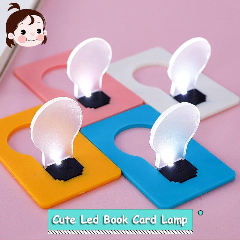 Cute Mini Wallet Led Lamp Credit Card Size Led Night Light Paper Card Kids Wall Light Led Ledroom Lights Led Wall Lamp