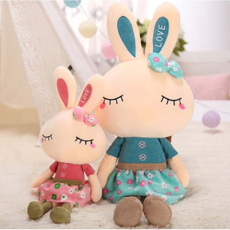 Cute 46/56cm Large Soft Stuffed Animal Plush Lovely Rabbit Toys Baby Girl Kids Calm Sleep Room Bed Decor Photo Props