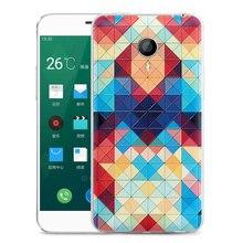 Meizu MX4 Оригинальный чехол MX4 батареи оригинальная крышка задняя крышка Мультфильм Окрашенные рельефы чехол 5.36»