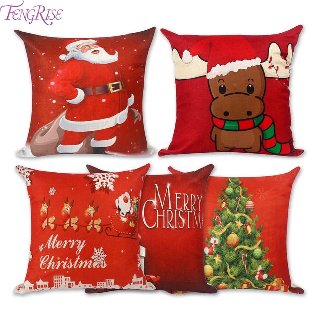 Christmas Pillow Case Decoration Santa Claus and Reindeer Design