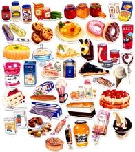 Self-made Food Jam Cake Desert Scrapbooking Stickers Decorative Sticker DIY Craft Photo Albums Decals Diary