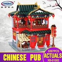 X модели, строительные игрушки, совместимые с X01002 3267PcsTavern блоки, игрушки хобби для мальчиков и девочек, модели, строительные наборы