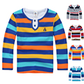High quality children clothing boys girls clothes kids t shirt spring autumn striped cotton long sleeve shirt