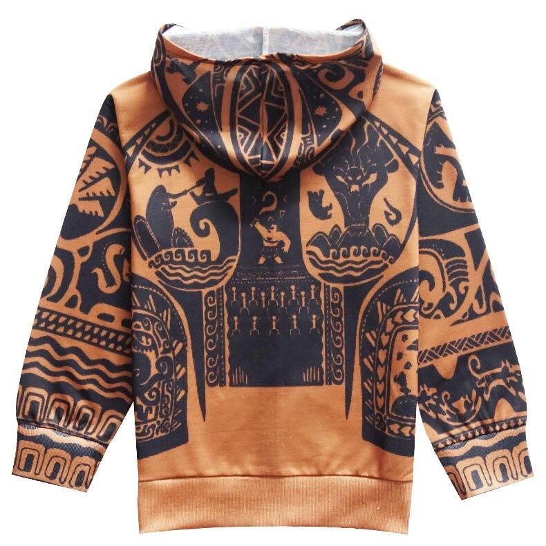 MOANA Childrens Full Sleeve Hoodies Sweatshirt Maui Boys Coat Cartoon Boy Active Clothing Spring Autumn Coat Jacket For Kids