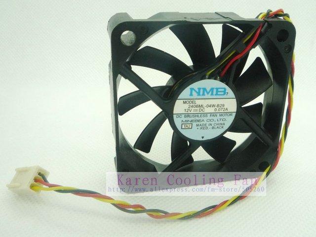 NMB 6CM 2406ML-04W-B29 6025 12v 0.072a 3-wire cpu cooler heatsink axial Cooling Fan 60*60*15MM