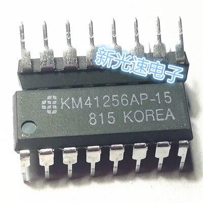 10pcs/lot KM41256-15 KM41256  DIP KM41256AP-15