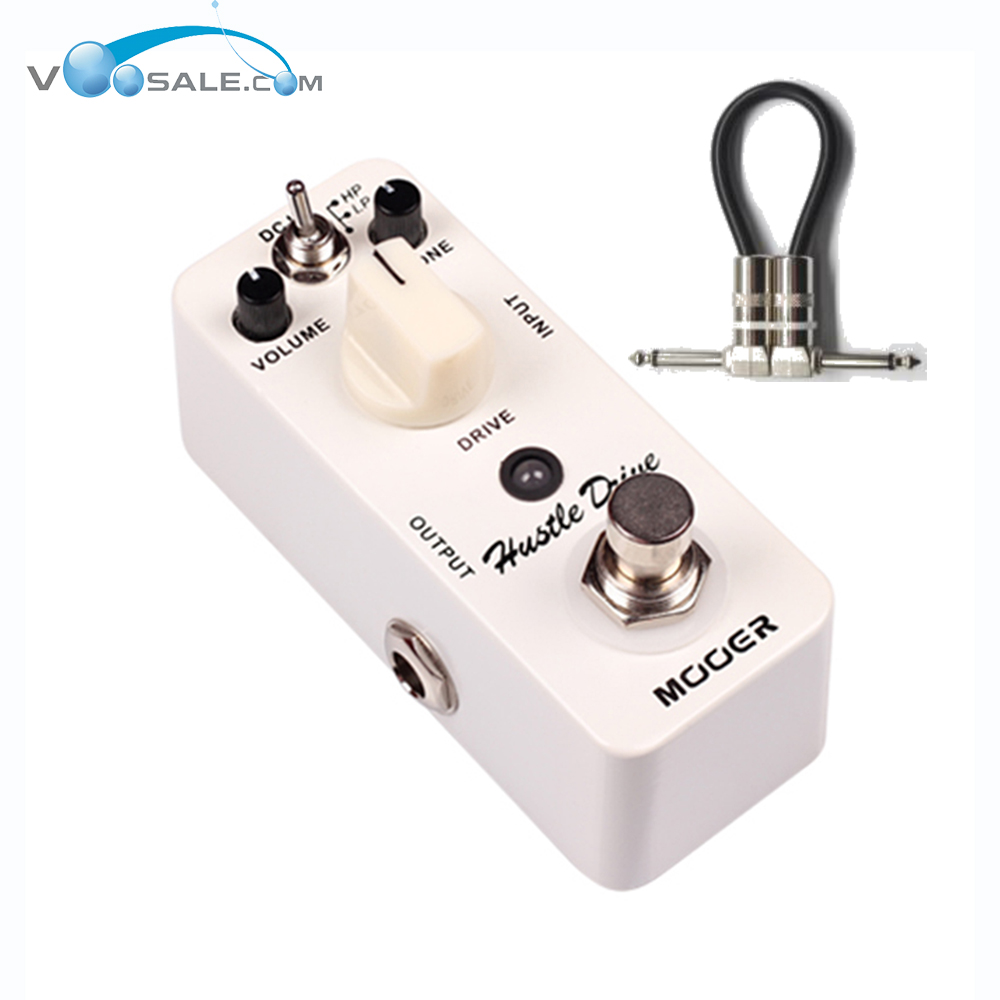 Mooer Hustle Drive Micro Mini Electric Guitar Effect Pedal True Bypass Effects With Free Conne Guitarra Pedals+Free Cable mooer ensemble queen bass chorus effect pedal mini guitar effects true bypass with free connector and footswitch topper