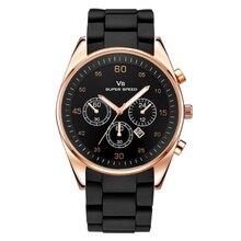 Новое поступление модные силиконовые спортивные мужские часы Топ люксовый бренд кварцевые наручные часы Авто Дата Мужская одежда Reloj Relogio Masculino