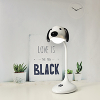 USB Rechargeable Desk Lamp LED Touch Control Desk Light Prone Dog Charging Book Lamps Modern Indoor
