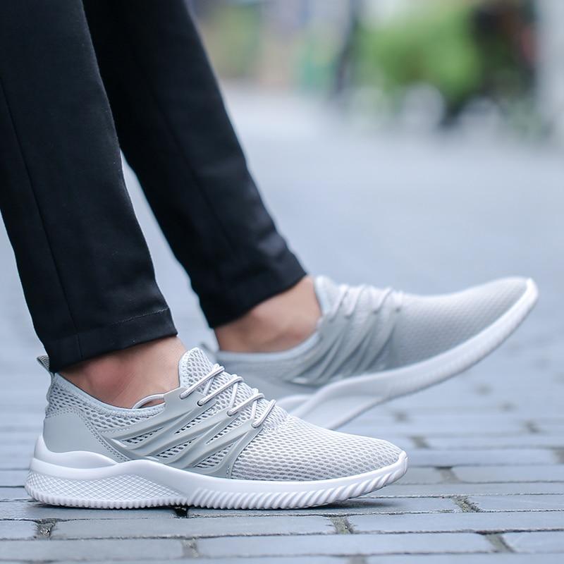 Tamaño Ligero Moda Verano 45 White grey Transpirable Deporte De 39 Zapatos Zapatillas Hombres black Ultra Barefoot Calle Más Malla CwxvqZA5HO