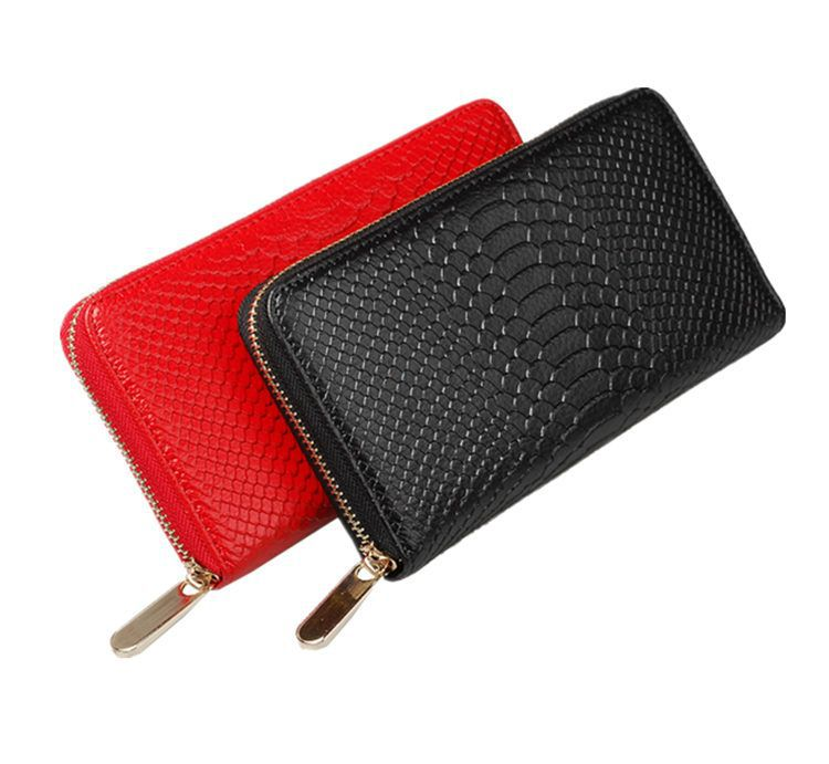 Gift Items For Ladies Part - 23: Christmas Gift Items New Leather Handbag Ladies Fashion Purse Wallet For  Woman Crocodile Embossed Leather Clutch ...