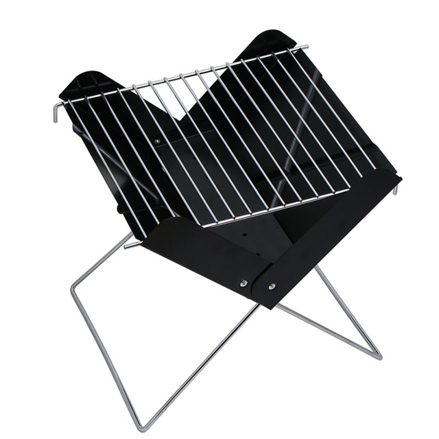 Stainless Steel Small Bbq Household Charcoal Grill Outdoor Folding Portable Field