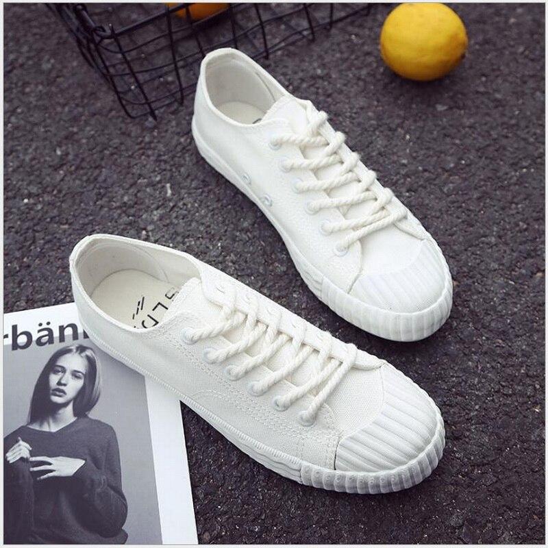 Ausdauernd Frauen Casual Schuhe 2018 Sommer Herbst Mode Turnschuhe Solide Sewing Erwachsene Leinwand Schuhe Frau Studenten Kleine Weiße Schuhe Angemessener Preis Vulkanisierte Damenschuhe