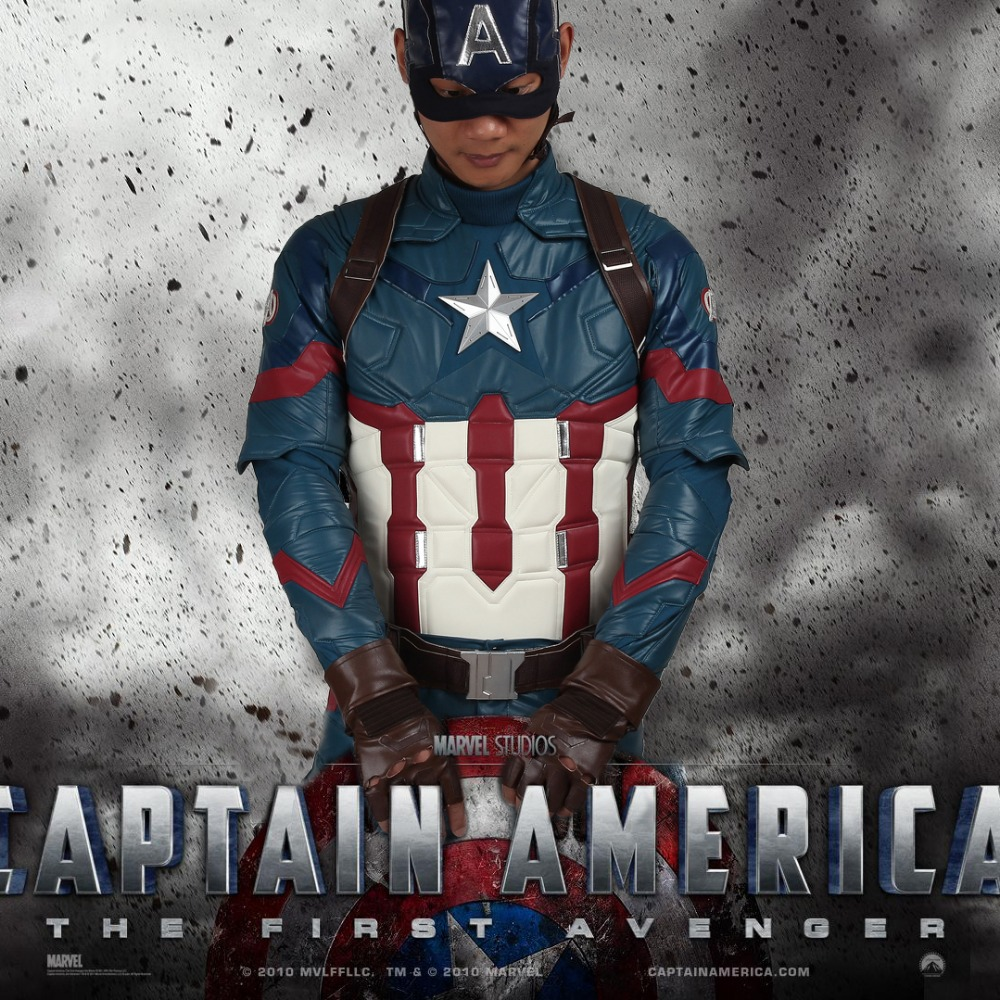 Captain America 3 Civil War Cosplay Costume Outfit Steven Rogers Cosplay Adult Superhero Halloween Party Custom Made Adult