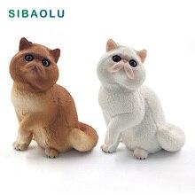 Simulation Persian cat Animal model figurine home decor miniature fairy garden decoration accessories modern figure statue toys
