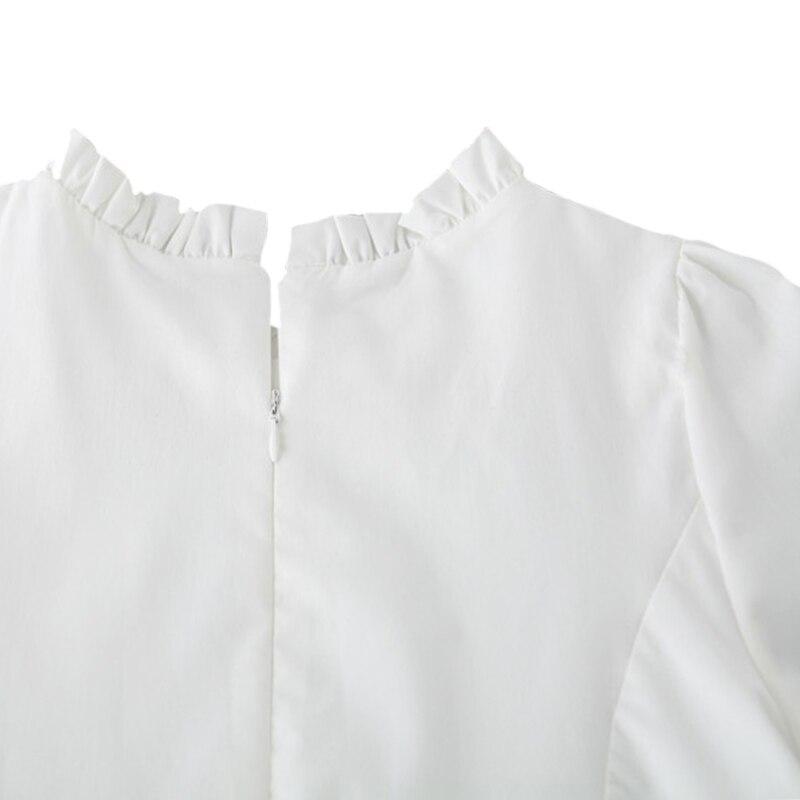Woman Summer Elegant Korean White Lace Mini Dress Japanese Cute Beach Party Short 2019 Autumn Boho Kawaii Clothes Dresses