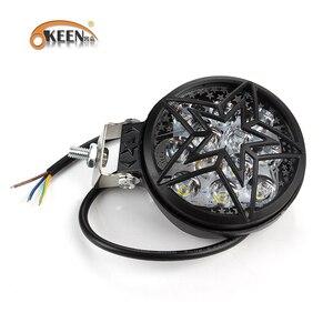 Image 2 - OKEEN 12V Car LED Work Light Bar 28W Motorcycle Bike Fog DRL Headlight 3200Lm High Low Beam Spotlight 6500K White Headlamp 24V