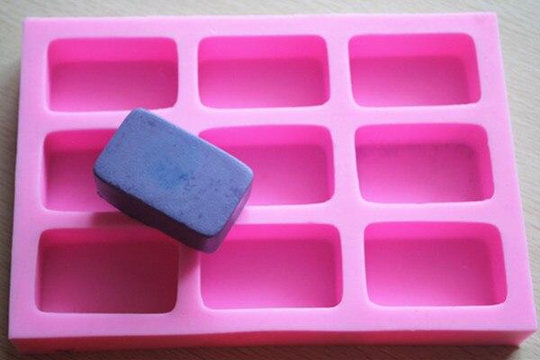 9 cavité Silicone savon moule rectangle forme fondant gâteau chocolat moule résine argile artisanat moule décoration outils