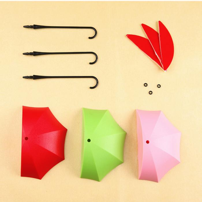 3Pcs Colorful Wall Hooks Umbrella Wall Hook Key Hair Pin Holder ...