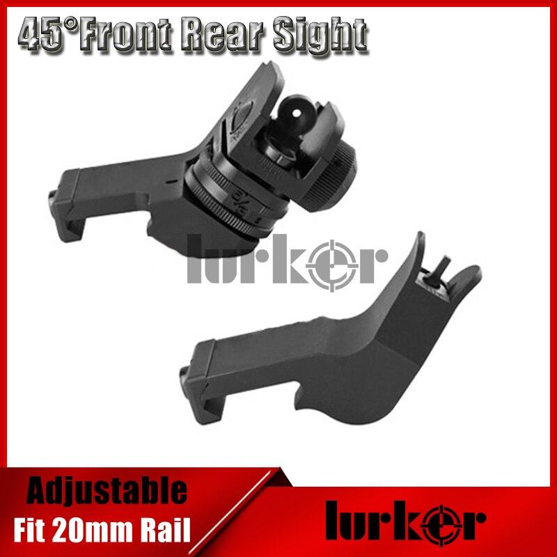 KINSTTA Taktische AR 15 Vorne/Hinten 45-Grad Schneller Übergang BUIS Backup Eisen Anblick Fit 20mm Picatinny schiene