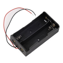 Пластиковые Батарея Дело Box Держатель Для 2 х 18650 3.7 В С Проволочными выводами Цифровой Горячей