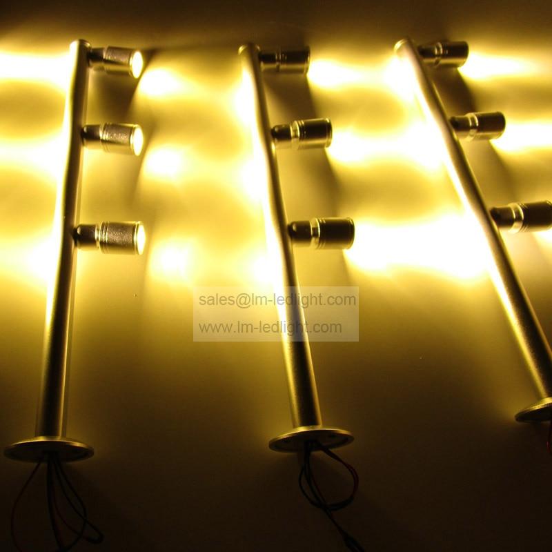 led jewelry display lighting 3W 110-265V bridgelux showcase lighting led warm white day white pure white cabinet lighting 24PCS