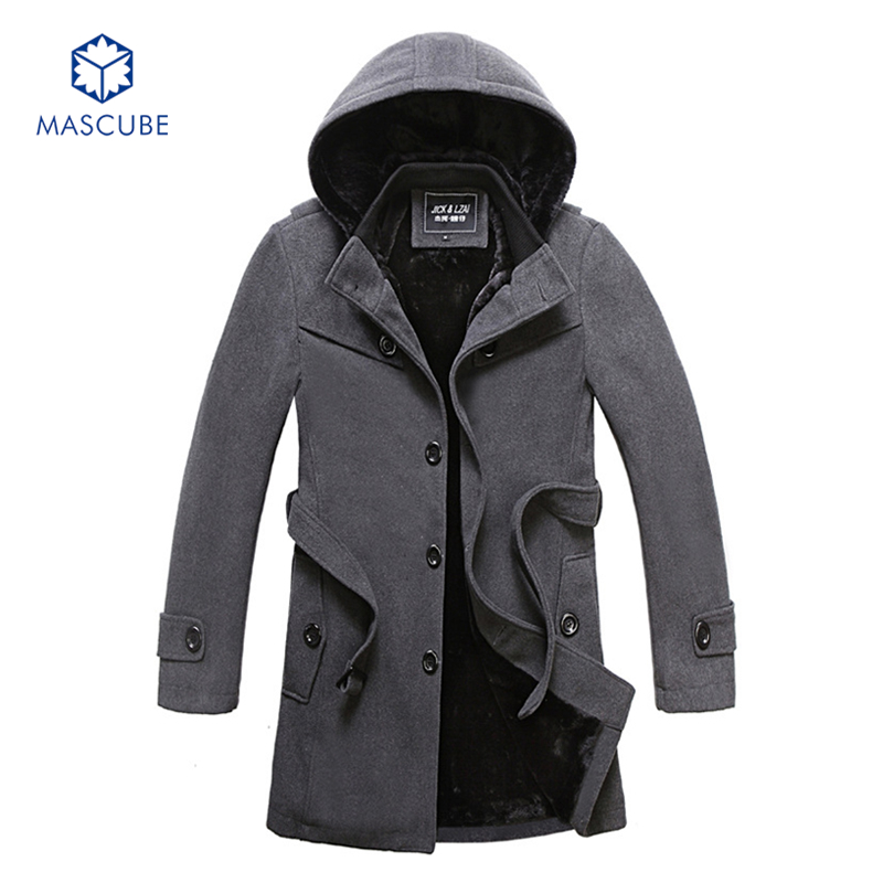 Hot Sale Men Winter Slim Fit Parkas Hooded Collar Casual Style Mens Comfortable Warm Thi ...