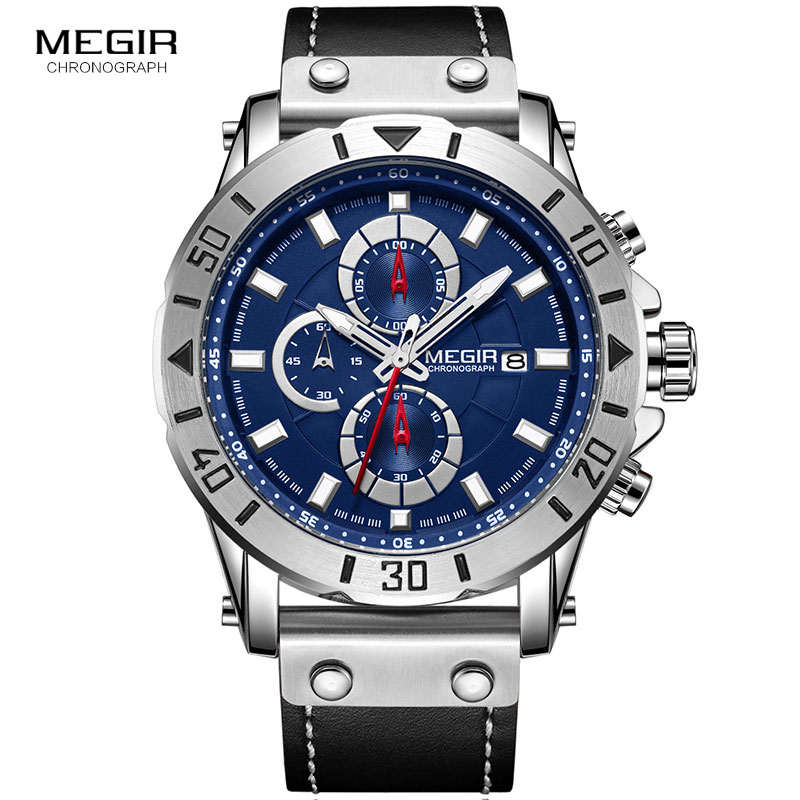 купить MEGIR Top Brand Luxury 2018 Fashion Leather Strap Quartz Men Watches Casual Date Business Male Wristwatches Clock Montre Homme по цене 1662.64 рублей