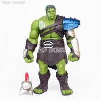 33 CM Avengers Toy Superhero Thor 3 Ragnarok Hulk Robert Bruce Banner PVC Action Figure Joint Movable Model Kids Gift Brinquedos