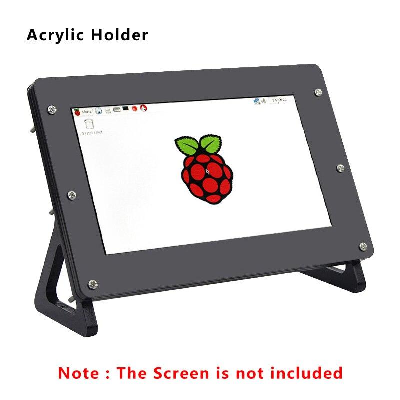 7 Inch LCD Screen Acrylic Holder Case For Raspberry Pi 3 Model B+ 3B 2B Black Bracket Case For Raspberry Pi 7'' Split Display
