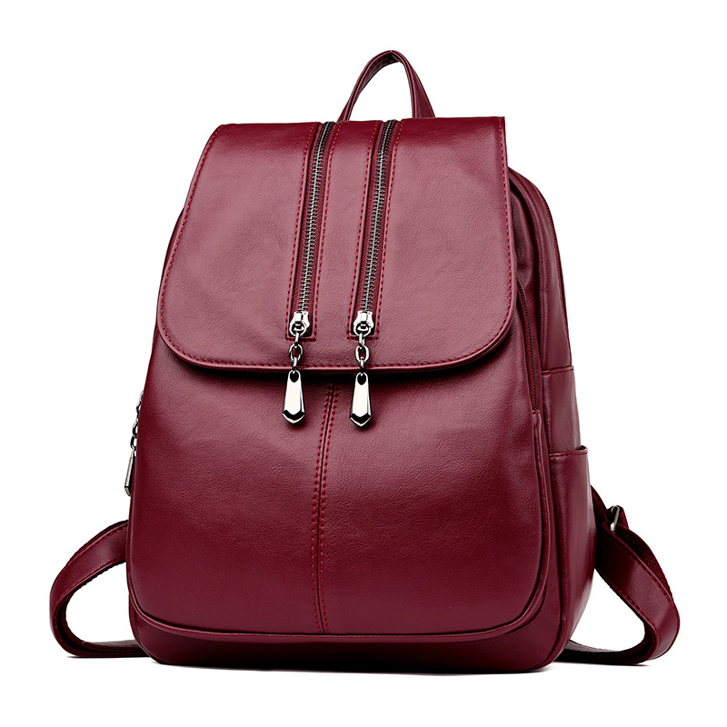 zooler backpack casual 2017 new high quality woman leather backpacks school bag red pots designed backpack mochila d118 2018 New Fashion Women Backpack Soft High Quality PU Leather Backpack Female Travel Backpacks School Bag Mochila Feminina