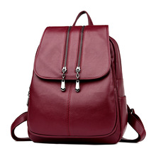 2019 New Fashion Women Backpack Soft High Quality PU Leather Backpack Female Travel Backpacks School Bag Mochila Feminina dicool high quality pu leather backpack school travel bag backpack women famous brands backpack bolsos mujer vintage backpacks page 5