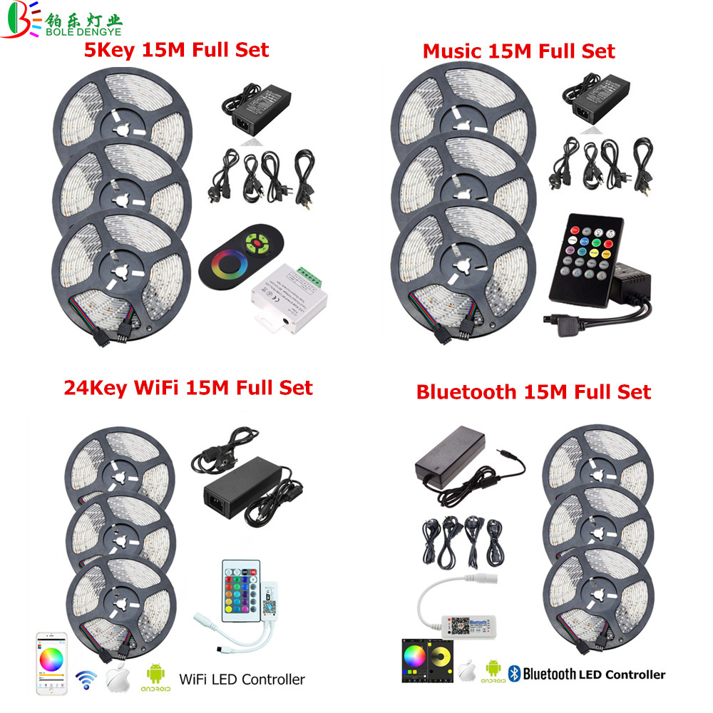 12v led strip smd 2835 flexible diode tape waterproof rgb ribbon 12v led strip smd 2835 flexible diode tape waterproof rgb ribbon multicolor led rope lightwifi rgb controller12v power adapter in led strips from lights aloadofball Gallery