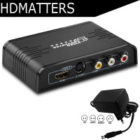 S video HDMI composite AV RCA to HDMI converter Scaler 1080P S video HDMI CVBS to HDMI Switcher converter