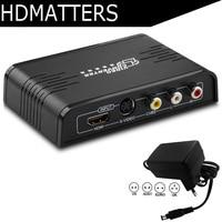 S video HDMI composite AV RCA to HDMI converter Scaler 1080P S video HDMI CVBS to HDMI Switcher converter