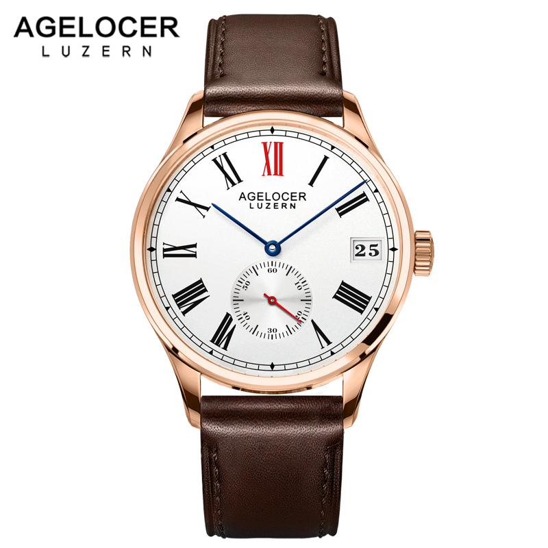 Agelcoer Swizerland Luzern Gold Watch Wristwatch Gift For Men Luxury Brand Male Fashion Dress Watches Time Hours Relogio Clock низ от купальника pcliva norm bottom flow