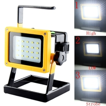 Outdoor Portable 30W 20 LED Working Lamp Floodlight Rechargeable Emergency Suburb SpotLight With 3 Modes For