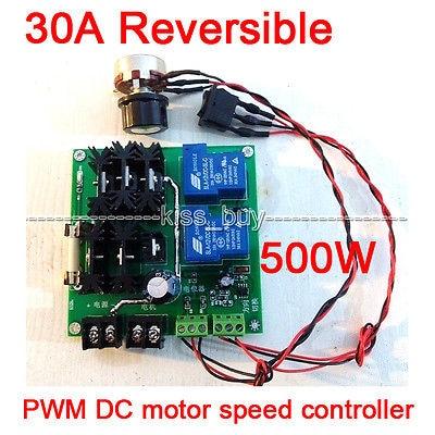 30A Reversible PWM 12V-32V 500W DC Motor Module Speed Control Regulator Controller PWM frequency: 6khz