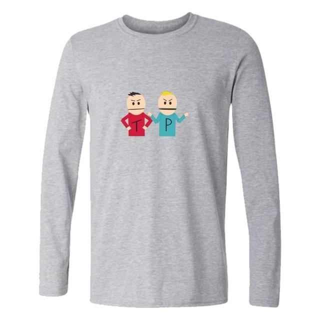 e94325f84dd funny t shirts South Park T Shirt Long Sleeve Cotton For fitness t shirt  Men Tee Shirt Clothes Fashion men clothing tshirt