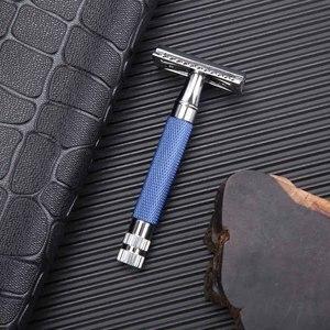 Image 4 - Yaqi Blau Farbe Messing Schwere Griff Nass Sicherheit Rasiermesser