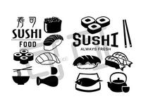 Sushi Shop Vinyl Wall Sticker Sushi Japanese Food Restaurant Sushi Bar Mural Sticker Sushi Shop Spa Window Glass Decoration