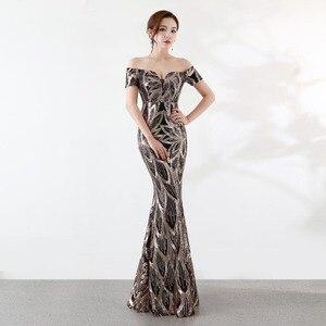 Image 2 - נובל וייס ארוך כבוי כתף ערב שמלות ערב בת ים שמלות נשים פורמליות שמלות us2 14
