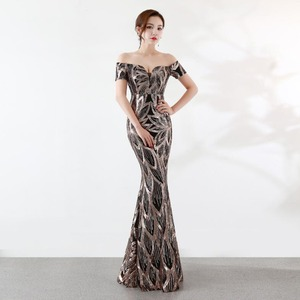 Image 2 - NOBLE WEISS Long Off  Shoulder Evening Dresses Sequined Mermaid Evening Gowns Women Formal Dresses us2 14