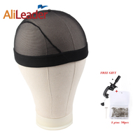 Alileader Dome Cap And Canvas Block Combination Head Mannequin Head Wig Making Display Styling Head 21'' 22'' 23'' 24'' 25''