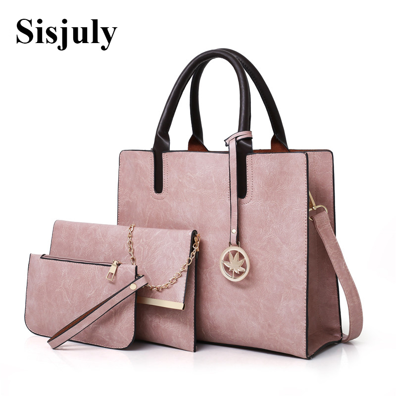 3Pcs Sets Bag Women Leather Handbag Luxury Female Shoulder Bags Designer Big Crossbody Bags For Women 2018 Famous Brand Tote Sac women designer leather smiley trapeze handbag luxury lady smiling face purse shoulder bag girl crossbody bag sac femme neverfull