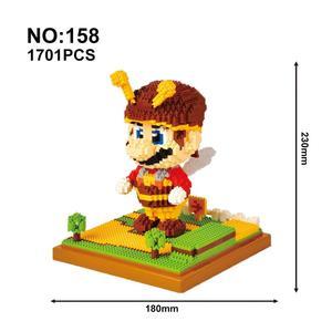 Image 3 - نموذج اللبنات الكرتون شخصيات كرتونية تجميعها لبنة صغيرة ألعاب تعليمية للأطفال
